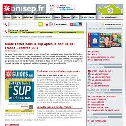 Guide Entrer dans le sup après le bac Ile-de-France – rentrée 2017