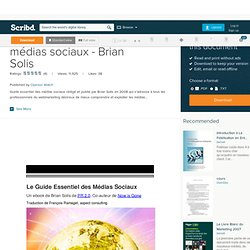 Guide essentiel des médias sociaux - Brian Solis
