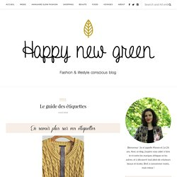 Le guide des étiquettes – Happy new green