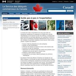Guide pas-à-pas à l'exportation 2011