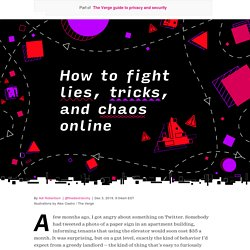 A guide to fighting lies, fake news, and chaos online