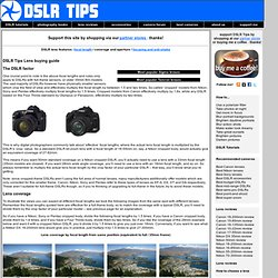 DSLR Tips: DSLR Lens Buying Guide - focal length and coverage