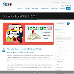 Guide For Local SEO In 2016