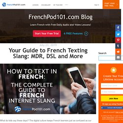 Our Guide to French Internet & Text Slang