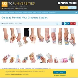 Guide to Funding Your Graduate Studies