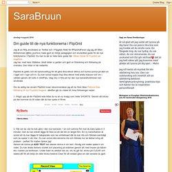 SaraBruun: Din guide till de nya funktionerna i FlipGrid