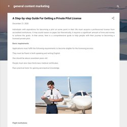 A Step-by-step Guide For Getting a Private Pilot License