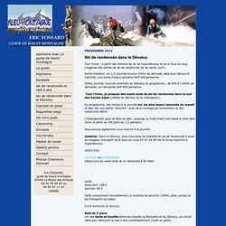 Guide de haute montagne dans les Alpes: Eric Fossard - Ski de rando