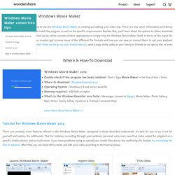 Download/Guide to Windows Movie Maker