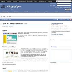 Le guide des indispensables 2011 : SVT