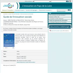 Guide de l'innovation sociale