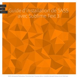 Guide d'installation de SASS avec Sublime Text 3