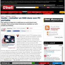 Guide : installer un SSD dans son PC portable