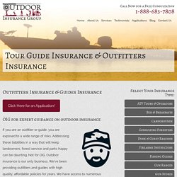 Get to know About Tour Guide Insurance & Outfitters Insurance