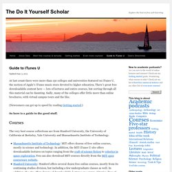The Do It Yourself Scholar