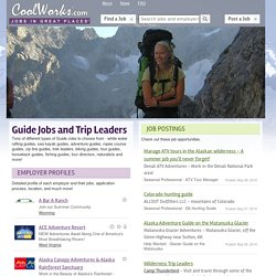 Guide Jobs and Trip Leaders
