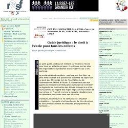 Guide juridique : le droit à l'école pour tous les enfants