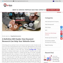 SEO Guide: How Keyword Research Can Help Your Website Grow