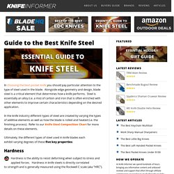 Guide to the Best Knife Steel