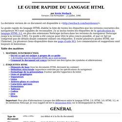 Guide du langage HTML