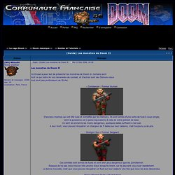 [Guide] Les monstres de Doom II