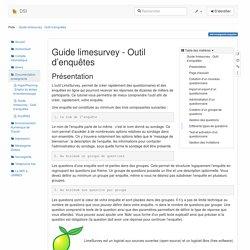 Guide limesurvey - Outil d'enquêtes [DSI]