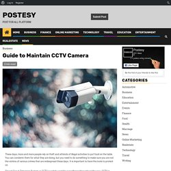 Guide to Maintain CCTV Camera
