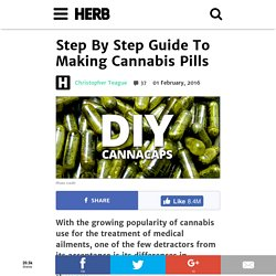 Step By Step Guide To Making Cannabis Pills