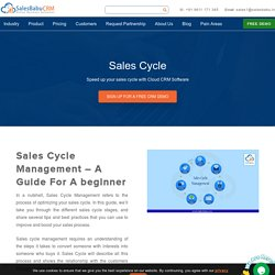 A Guide To Sales Cycle Management : SalesBabu
