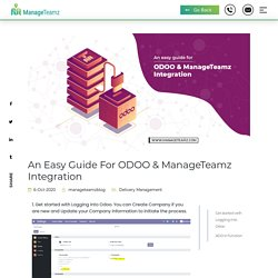 An easy guide for ODOO & ManageTeamz Integration