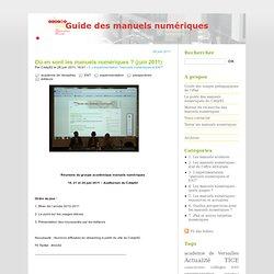 Guide des manuels numériques