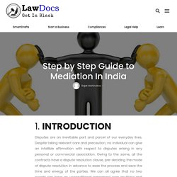 Step by Step Guide to Mediation In India
