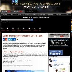 Guide des meilleures terrasses 2014 à Paris