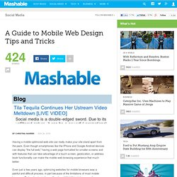 A Guide to Mobile Web Design Tips and Tricks