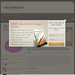 GUIDE: How To Make A Lot More Money Online Doing Web Design