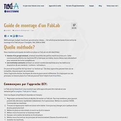Guide de montage d'un FabLab