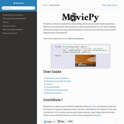 User Guide — MoviePy 0.2 documentation