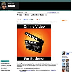 Guide To Online Video For Business