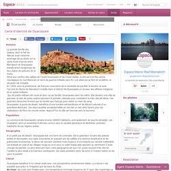 Ouarzazate : Carte d'identité de Ouarzazate