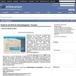 Guide du web 2013 du Café pédagogique : Français