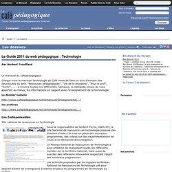 Le Guide 2011 du web pédagogique : Technologie