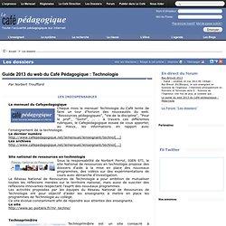Technologie : Guide 2013 du web du Café Pédagogique