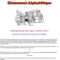 guide site Jean-Pierre Petit par ordre alphabetique