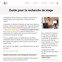 Guide pour la recherche de stage - BTS Support à l'Action Managériale