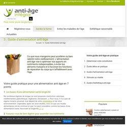 Guide pratique d'alimentation anti-âge