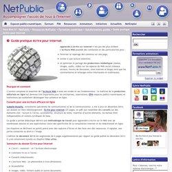 NetPublic » Guide pratique écrire pour Internet