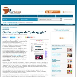 "Guide pratique de ""pairagogie"""