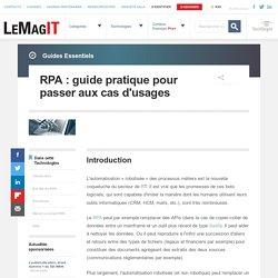 RPA : guide pratique pour passer aux cas d'usages