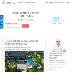 2021 Cost Guide: Professional Roof Painting Cost
