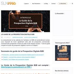 Guide de la Prospection Digitale B2B pour Entreprise Innovante